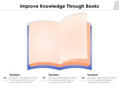 Improve Knowledge Through Books Ppt PowerPoint Presentation Professional Styles PDF