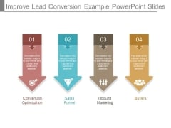 Improve Lead Conversion Example Powerpoint Slides
