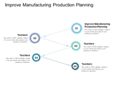 Improve Manufacturing Production Planning Ppt PowerPoint Presentation Summary Ideas Cpb