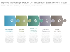 Improve Marketings Return On Investment Example Ppt Model
