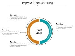 Improve Product Selling Ppt PowerPoint Presentation Gallery Layouts Cpb