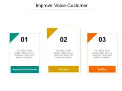 Improve Voice Customer Ppt PowerPoint Presentation Gallery Designs Cpb Pdf