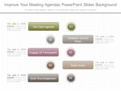 Improve Your Meeting Agendas Powerpoint Slides Background