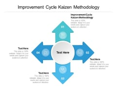 Improvement Cycle Kaizen Methodology Ppt PowerPoint Presentation Icon Cpb