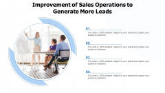 Improvement Of Sales Operations To Generate More Leads Ppt PowerPoint Presentation Gallery Show PDF