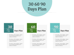 Improving Client Experience 30 60 90 Days Plan Inspiration PDF