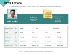 Improving Client Experience Buyer Persona Demonstration PDF