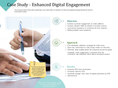 Improving Client Experience Case Study Enhanced Digital Engagement Summary PDF