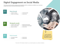 Improving Client Experience Digital Engagement On Social Media Portrait PDF