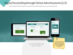 Improving Client Experience Digital Storytelling Through Online Advertisement Order Infographics PDF