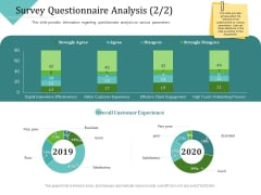 Improving Client Experience Survey Questionnaire Analysis Good Sample PDF