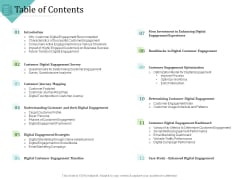 Improving Client Experience Table Of Contents Portrait PDF