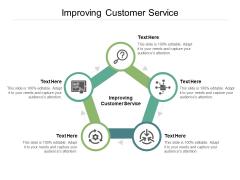 Improving Customer Service Ppt PowerPoint Presentation Diagram Templates Cpb