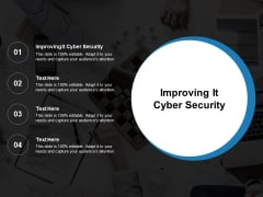 Improving It Cyber Security Ppt PowerPoint Presentation Slides Influencers Cpb