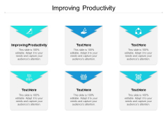 Improving Productivity Ppt PowerPoint Presentation Portfolio Guidelines Cpb