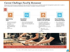 Improving Restaurant Operations Current Challenges Faced By Restaurant Ppt PowerPoint Presentation Inspiration Sample PDF
