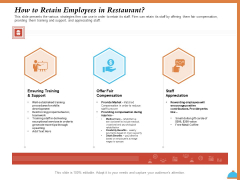 Improving Restaurant Operations How To Retain Employees In Restaurant Ppt PowerPoint Presentation Inspiration Format Ideas PDF