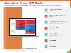 Improving Restaurant Operations Kitchen Display System Kot Handling Ppt Diagram Graph Charts PDF