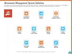 Improving Restaurant Operations Restaurant Management System Solutions Ppt PowerPoint Presentation Outline Backgrounds PDF
