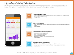 Improving Restaurant Operations Upgrading Point Of Sale System Ppt Outline Infographics PDF