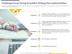 Improving Retention Rate Implementing Challenges Faced During Acquisition Strategy Plan Implementation Brochure PDF