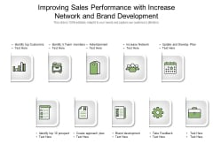 Improving Sales Performance With Increase Network And Brand Development Ppt PowerPoint Presentation Pictures Layout PDF