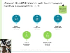 In Depth Business Assessment Maintain Good Relationships With Your Employees And Their Representatives Professional PDF