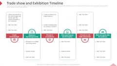 Inbound Interruption Commerce Promotion Practices Trade Show And Exhibition Timeline Ppt Layouts Template PDF