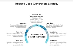Inbound Lead Generation Strategy Ppt PowerPoint Presentation Layouts Mockup Cpb