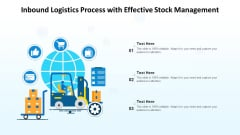 Inbound Logistics Process With Effective Stock Management Ppt PowerPoint Presentation File Graphics Download PDF