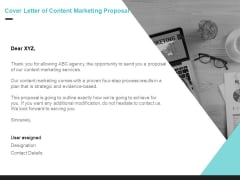 Inbound Marketing Cover Letter Of Content Marketing Proposal Ppt Example PDF
