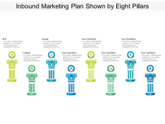 Inbound Marketing Plan Shown By Eight Pillars Ppt PowerPoint Presentation Infographics Layouts PDF