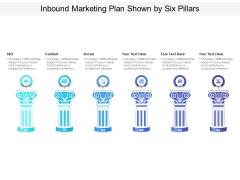Inbound Marketing Plan Shown By Six Pillars Ppt PowerPoint Presentation Outline Guide PDF
