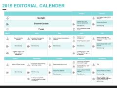 Inbound Marketing Proposal 2019 Editorial Calender Slides PDF