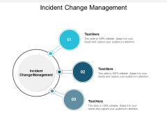 Incident Change Management Ppt PowerPoint Presentation Model Guidelines Cpb