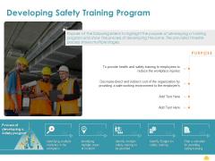 Incident Management Process Safety Developing Safety Training Program Slides PDF
