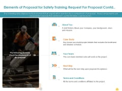 Incident Management Process Safety Elements Of Proposal For Safety Training Request Contd Introduction PDF