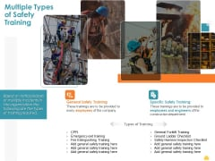 Incident Management Process Safety Multiple Types Of Safety Training Summary PDF