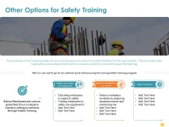 Incident Management Process Safety Other Options For Safety Training Formats PDF