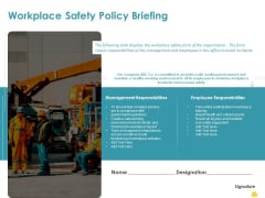 Incident Management Process Safety Workplace Safety Policy Briefing Introduction PDF