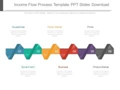 Income Flow Process Template Ppt Slides Download