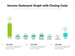 Income Statement Graph With Closing Costs Ppt PowerPoint Presentation Gallery Example Topics PDF