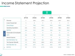 Income Statement Projection Ppt PowerPoint Presentation Visual Aids Ideas