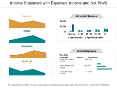 Income Statement With Expenses Income And Net Profit Ppt PowerPoint Presentation Infographic Template Smartart