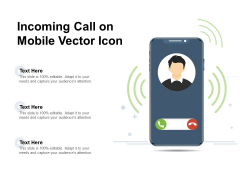Incoming Call On Mobile Vector Icon Ppt PowerPoint Presentation File Slide Portrait PDF