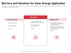 Incorporating Solar PV Commercial Building Barriers And Solutions For Solar Energy Application Ideas PDF