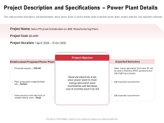 Incorporating Solar PV Commercial Building Project Description And Specifications Power Plant Details Topics PDF