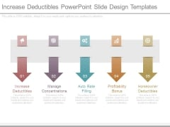 Increase Deductibles Powerpoint Slide Design Templates