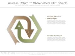 Increase Return To Shareholders Ppt Sample