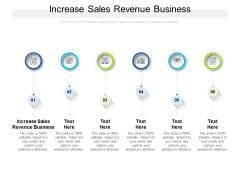 Increase Sales Revenue Business Ppt PowerPoint Presentation Styles Information Cpb